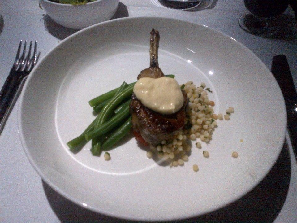 Castricum Borthers Lamb with fregola, green beans and roasted garlic aioli