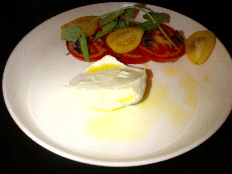 Buffalo mozzarella with tomatoes, basil and 20 year old balsamic