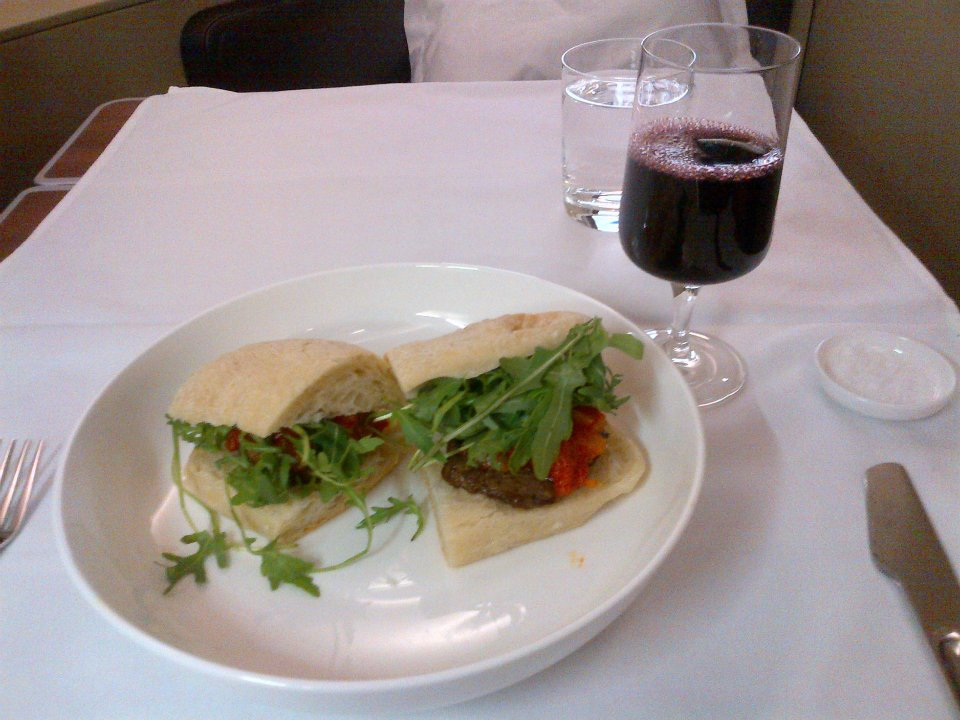 Qantas Signature Steak Sandwich
